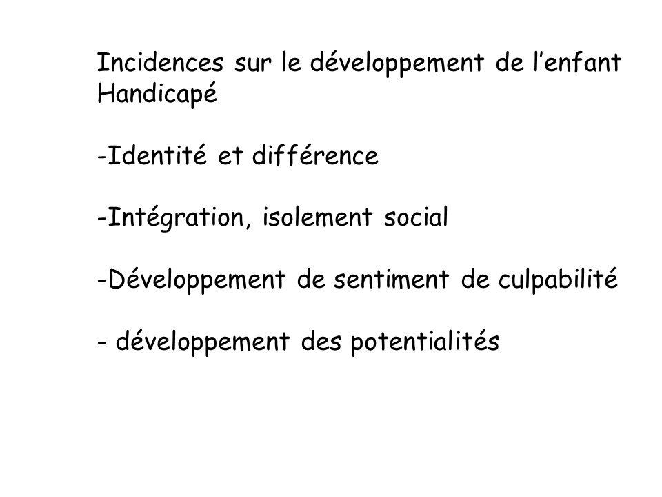 Incidences sur le développement de l'enfant