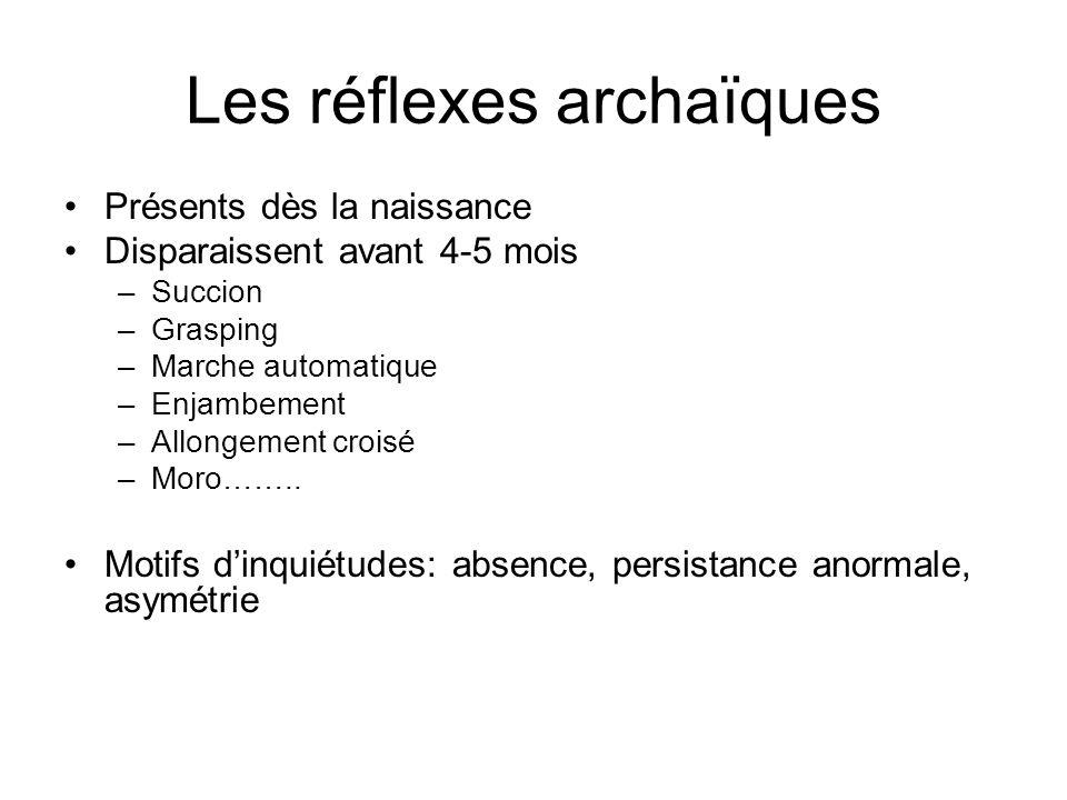 Les réflexes archaïques