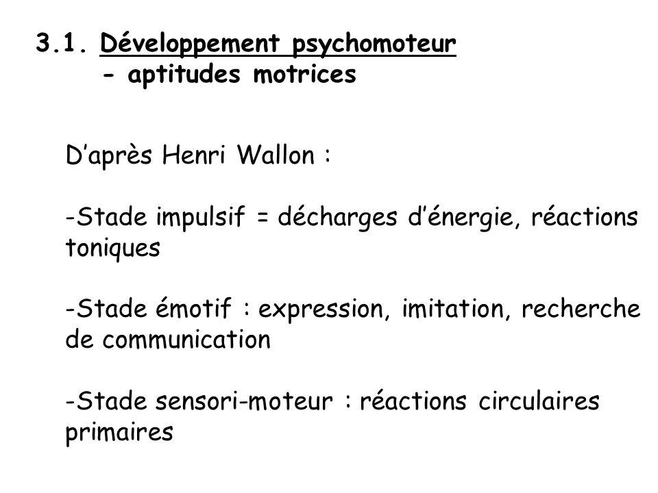 3.1. Développement psychomoteur