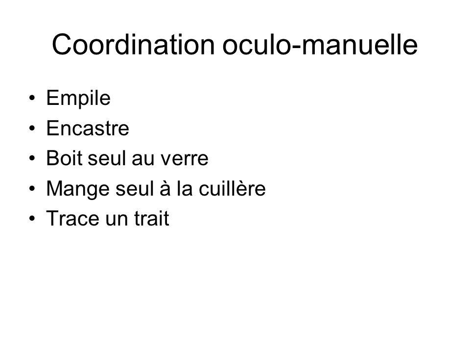 Coordination oculo-manuelle