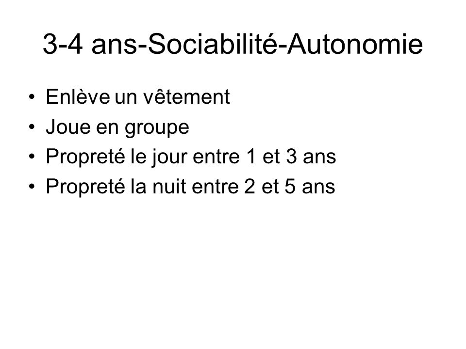 3-4 ans-Sociabilité-Autonomie