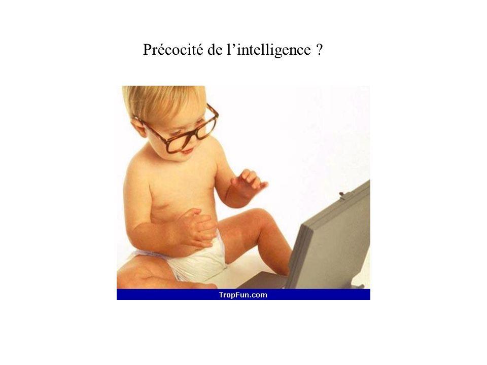 Précocité de l'intelligence