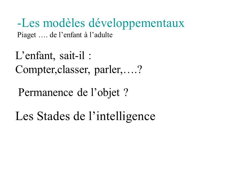 Les modèles développementaux