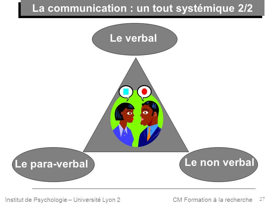 La communication : un tout systémique 2/2