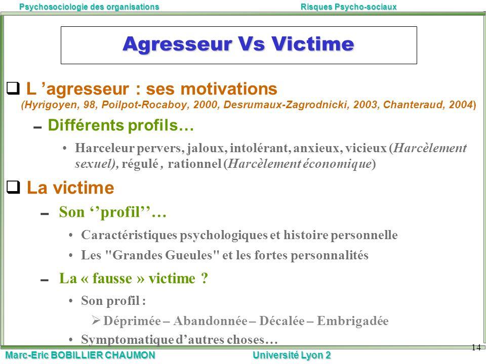 Agresseur Vs Victime La victime