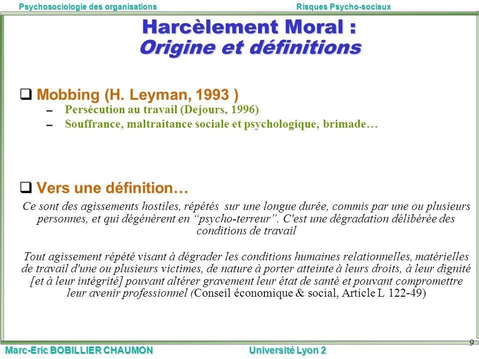 Harcèlement Moral : Origine et définitions