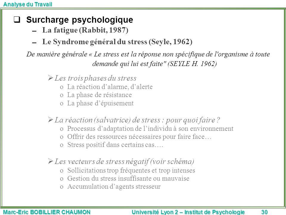 Surcharge psychologique