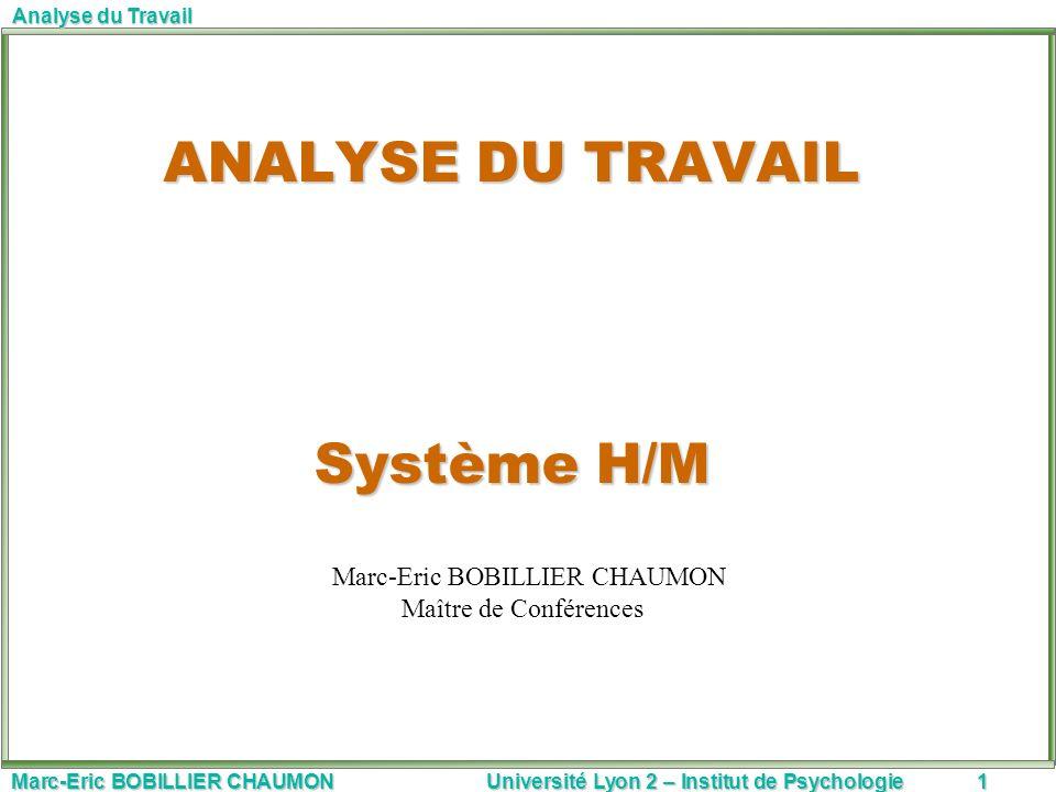 ANALYSE DU TRAVAIL Système H/M