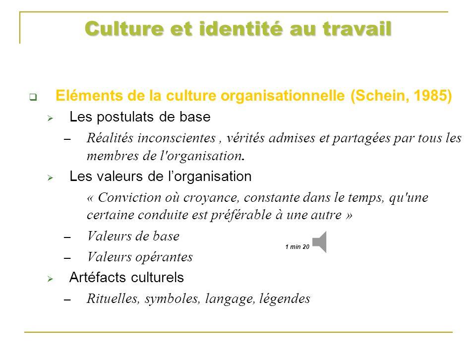 Culture et identité au travail