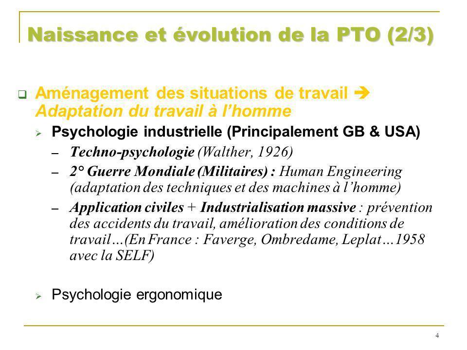 Naissance et évolution de la PTO (2/3)