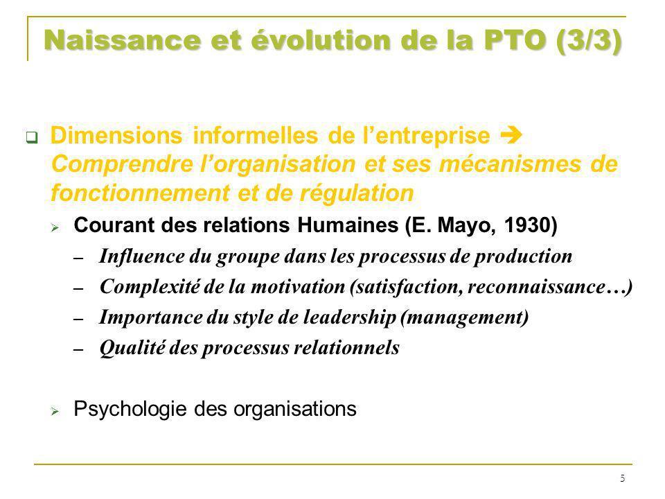 Naissance et évolution de la PTO (3/3)