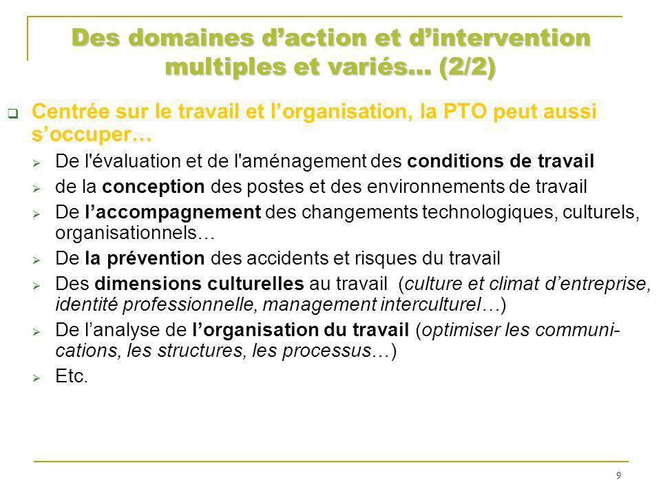 Des domaines d'action et d'intervention multiples et variés… (2/2)