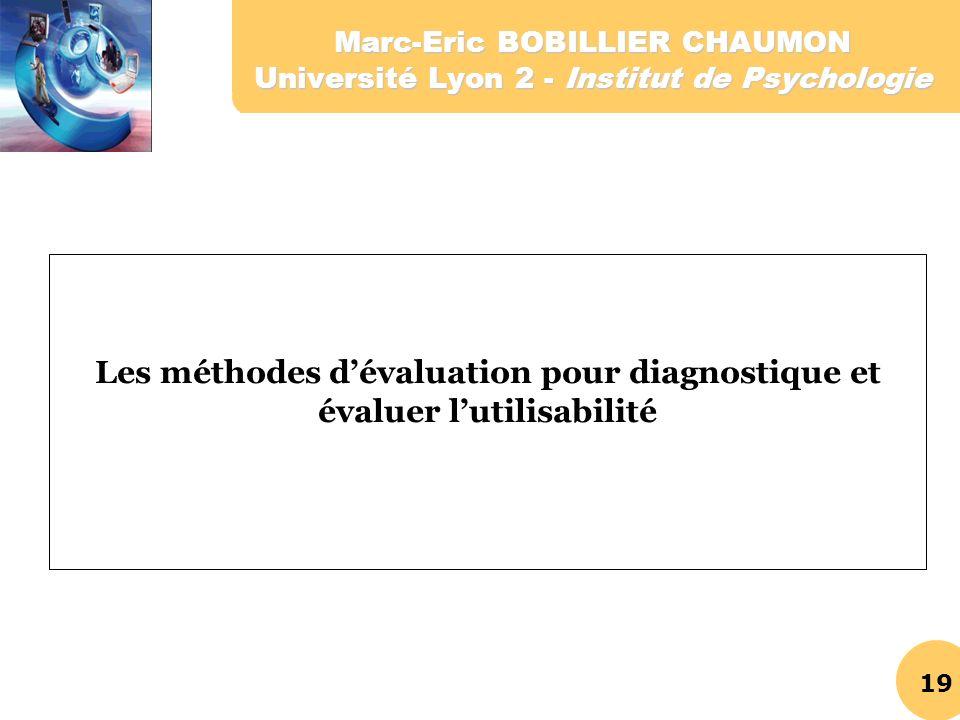 Les méthodes d'évaluation pour diagnostique et évaluer l'utilisabilité