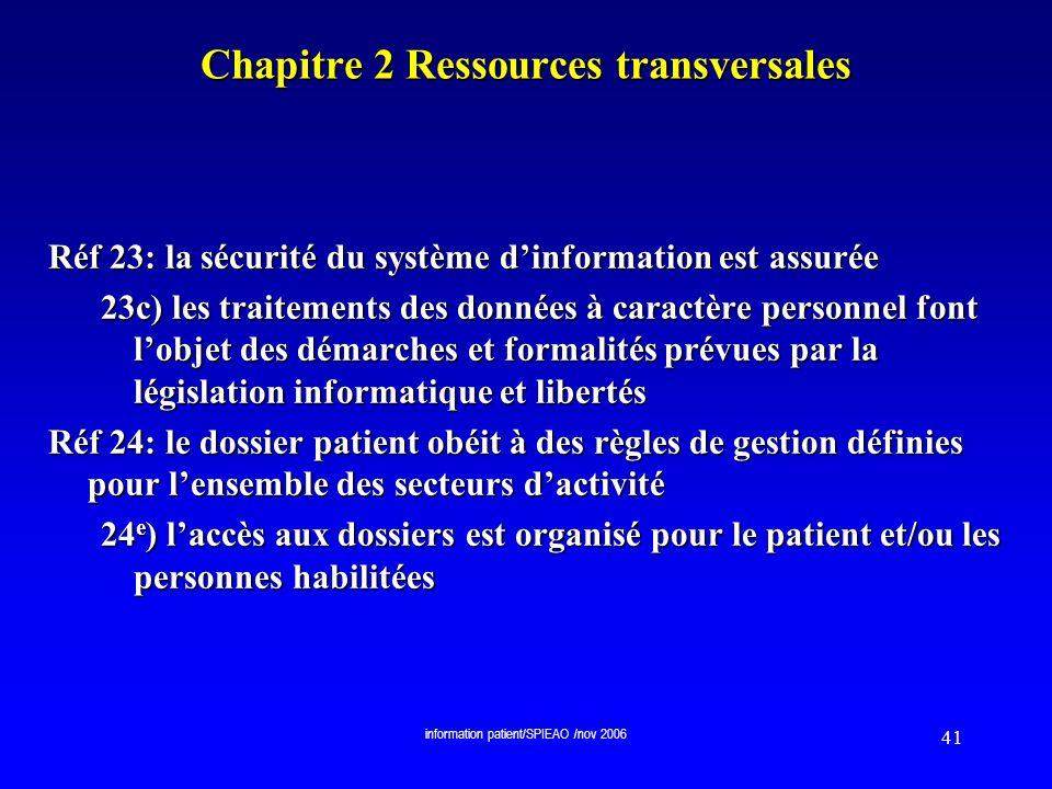 Chapitre 2 Ressources transversales