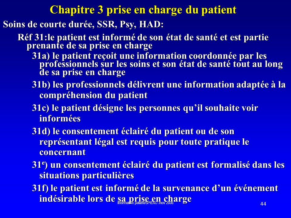 Chapitre 3 prise en charge du patient