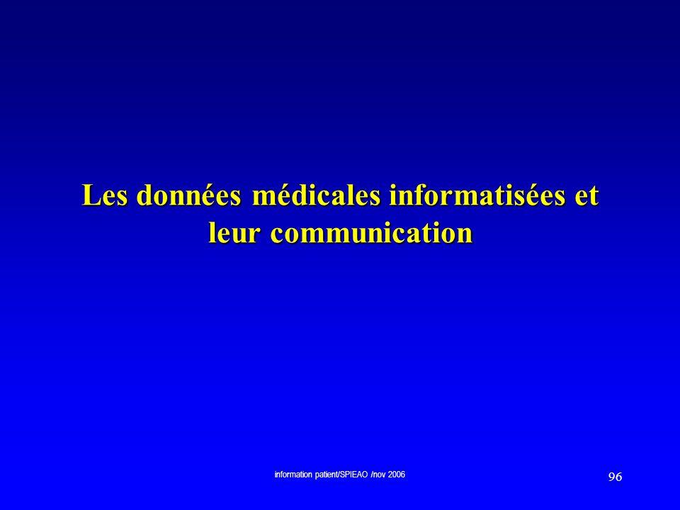 Les données médicales informatisées et leur communication