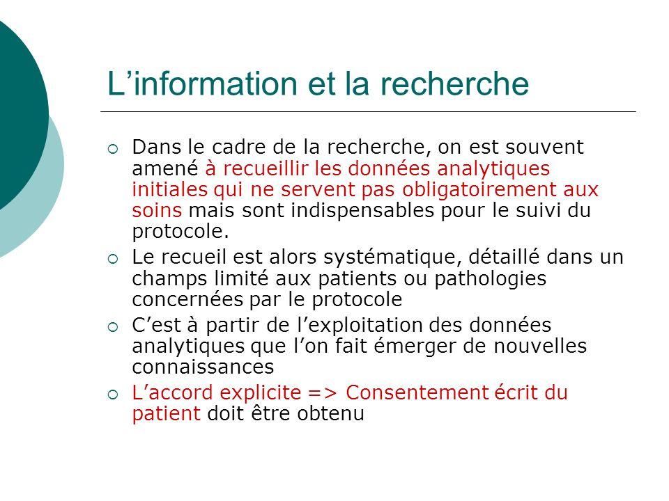 L'information et la recherche