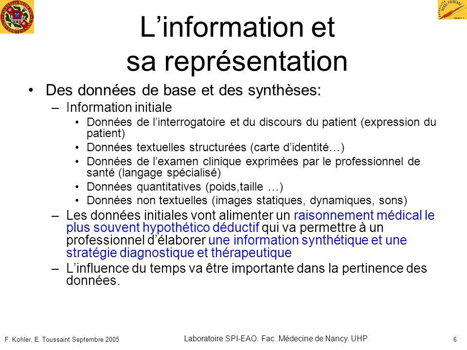 L'information et sa représentation