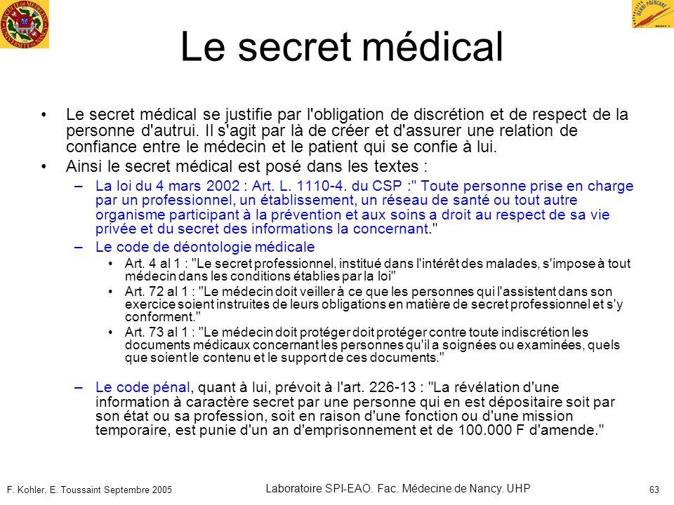 Laboratoire SPI-EAO. Fac. Médecine de Nancy. UHP