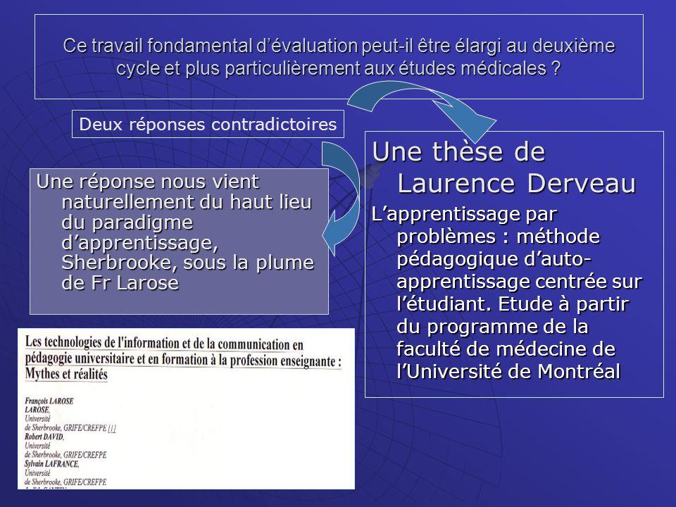 Une thèse de Laurence Derveau