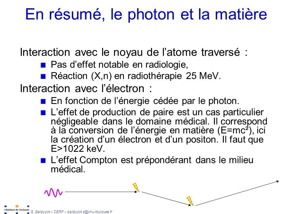 En résumé, le photon et la matière