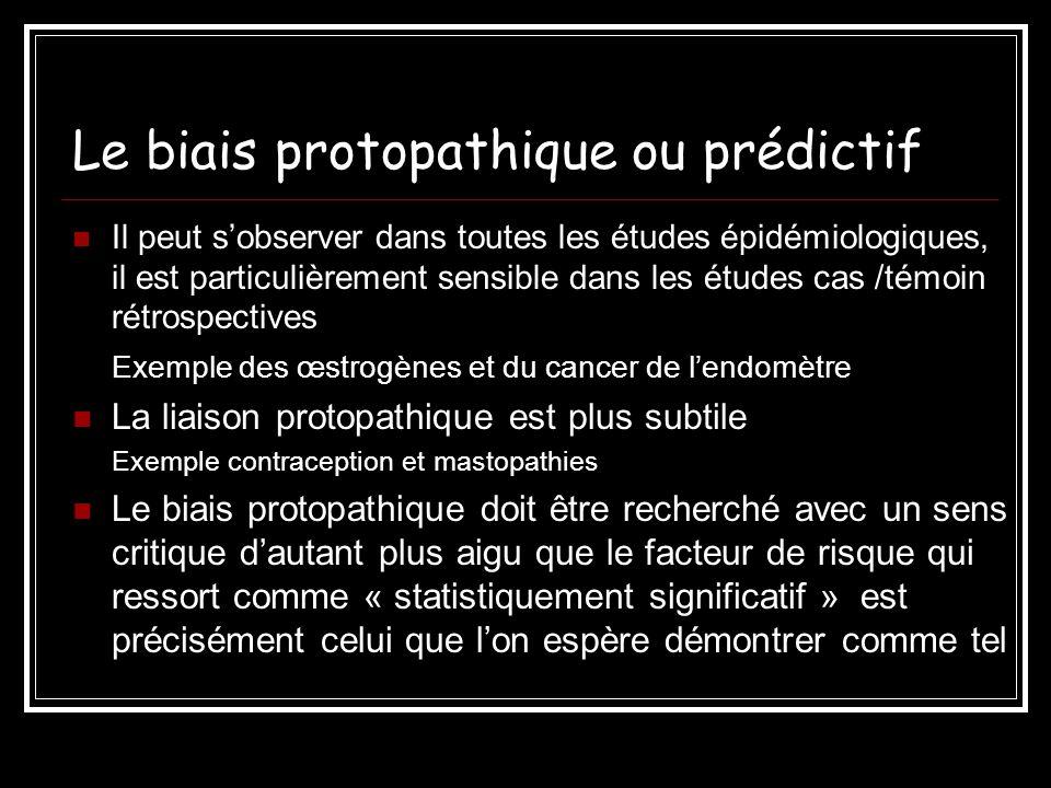 Le biais protopathique ou prédictif