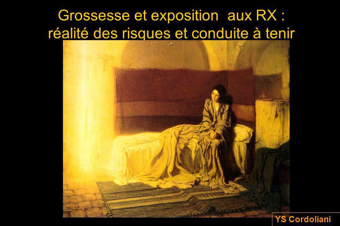 Grossesse et exposition aux RX : réalité des risques et conduite à tenir