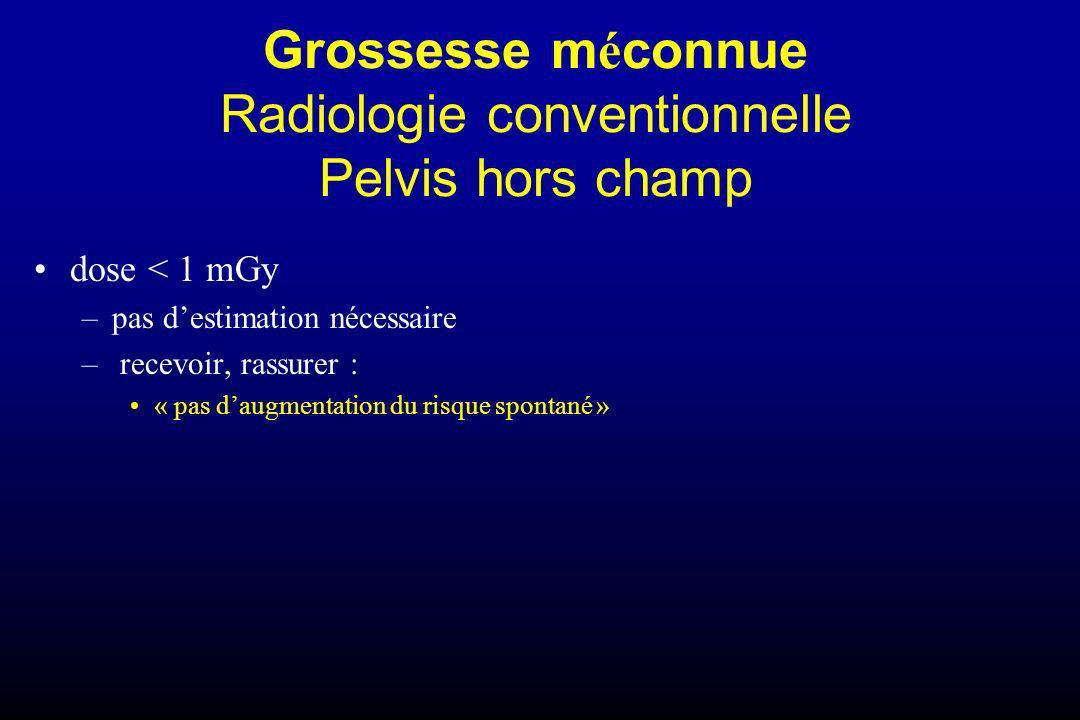Grossesse méconnue Radiologie conventionnelle Pelvis hors champ
