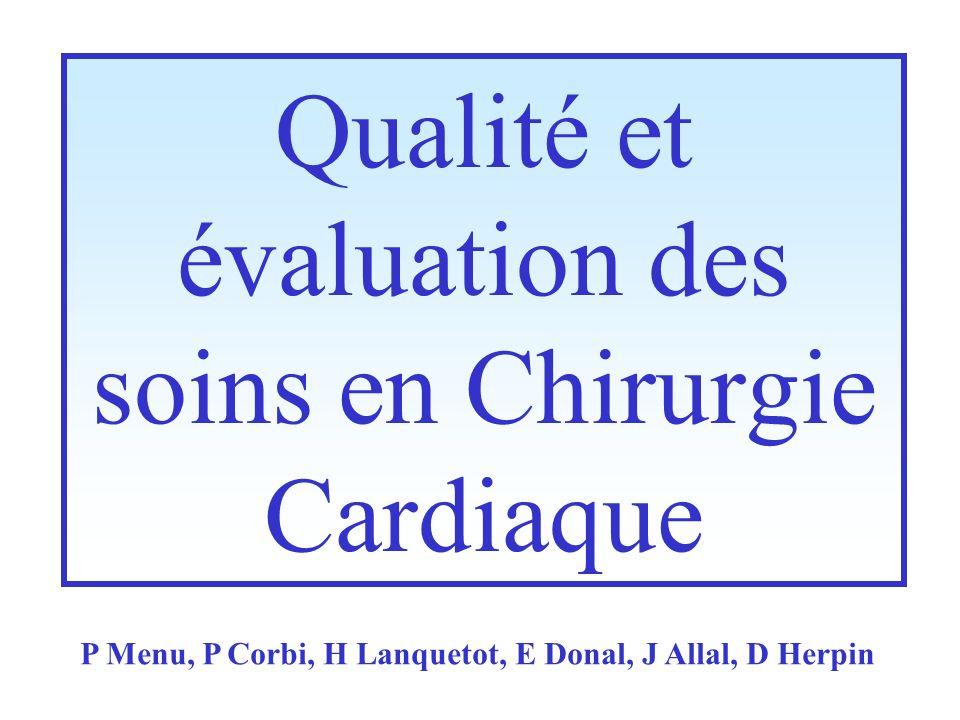 Qualité et évaluation des soins en Chirurgie Cardiaque