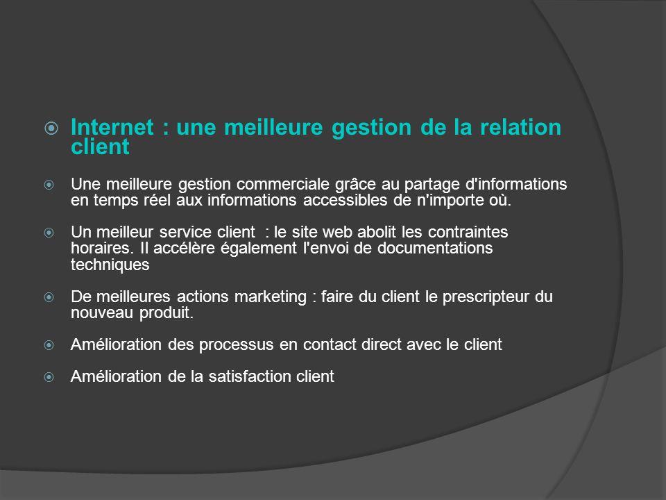 Internet : une meilleure gestion de la relation client
