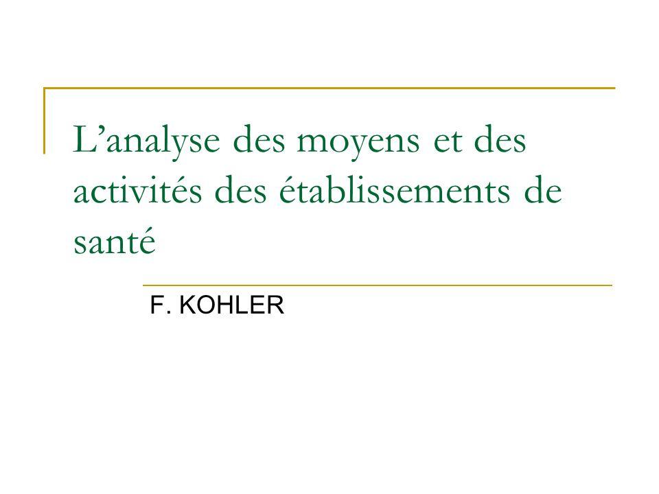 L'analyse des moyens et des activités des établissements de santé