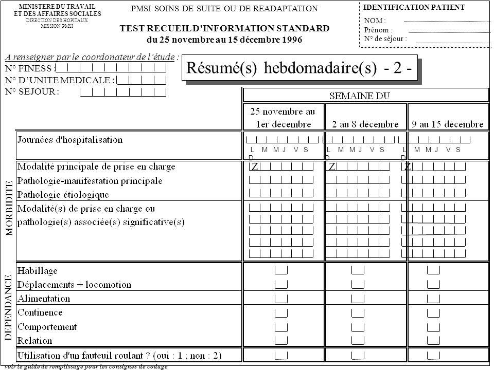 Résumé(s) hebdomadaire(s) - 2 -