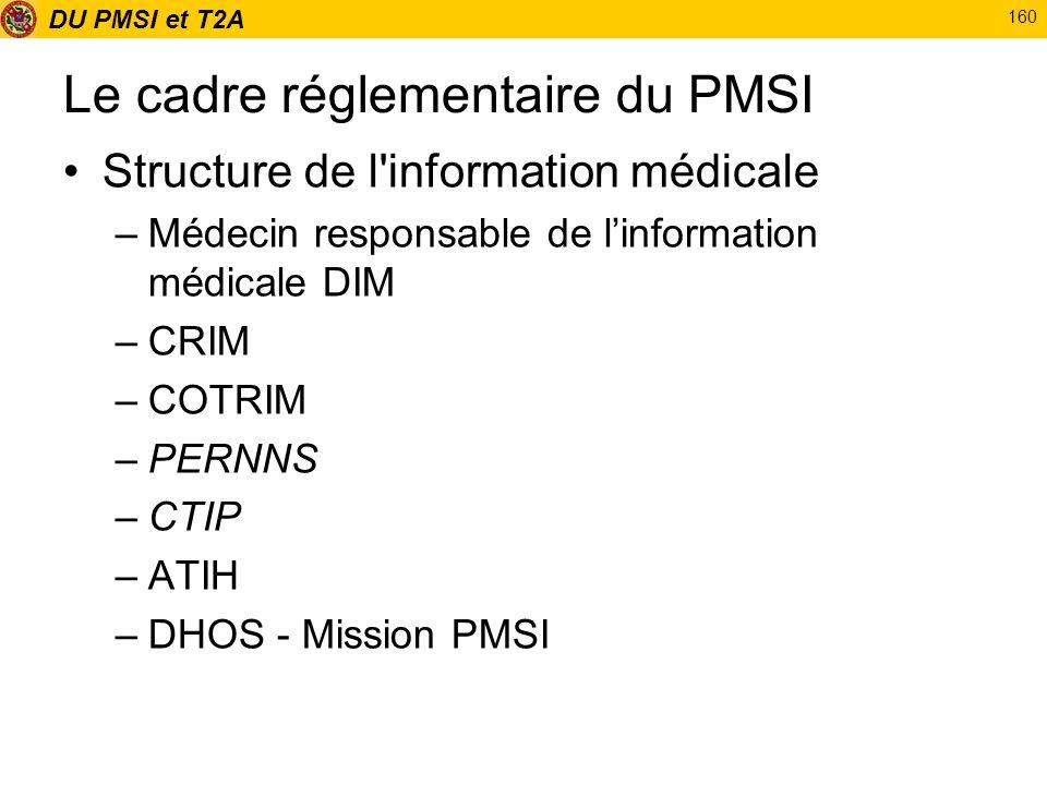 Le cadre réglementaire du PMSI