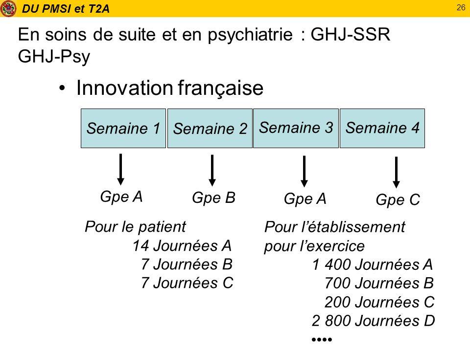 En soins de suite et en psychiatrie : GHJ-SSR GHJ-Psy