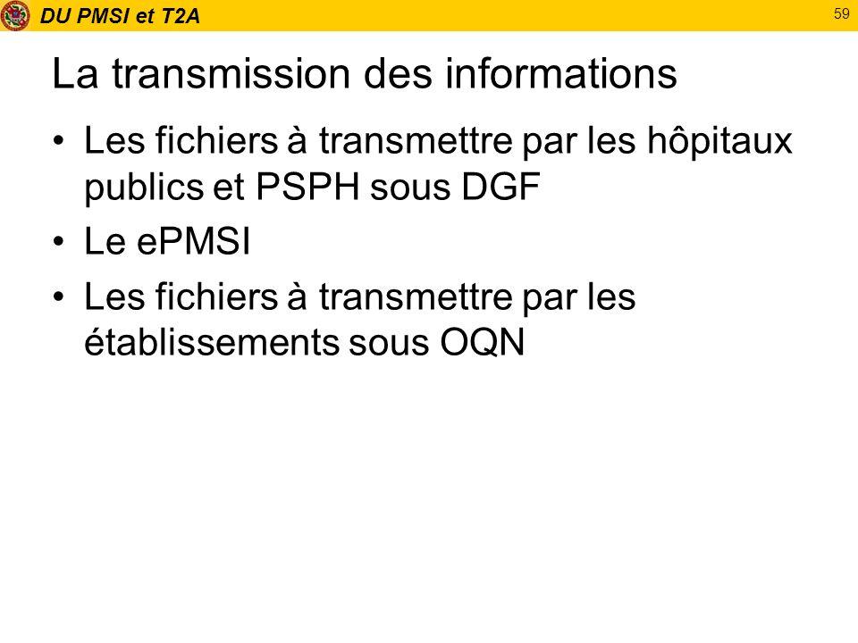 La transmission des informations