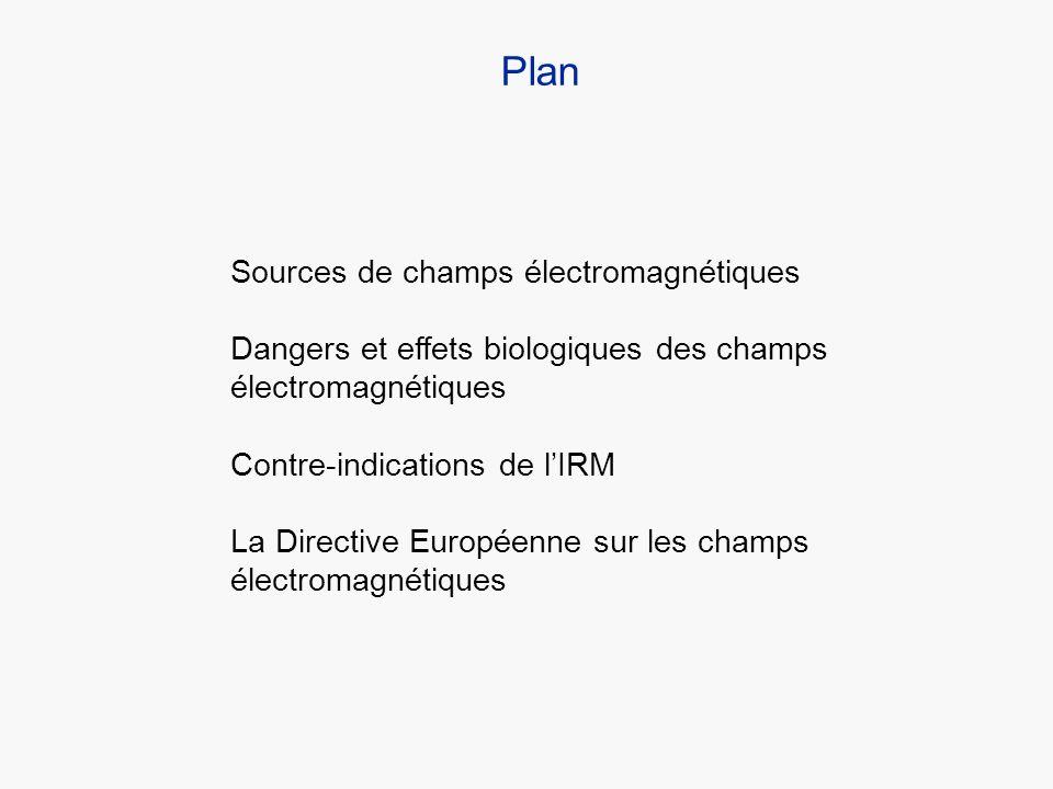 Plan Sources de champs électromagnétiques