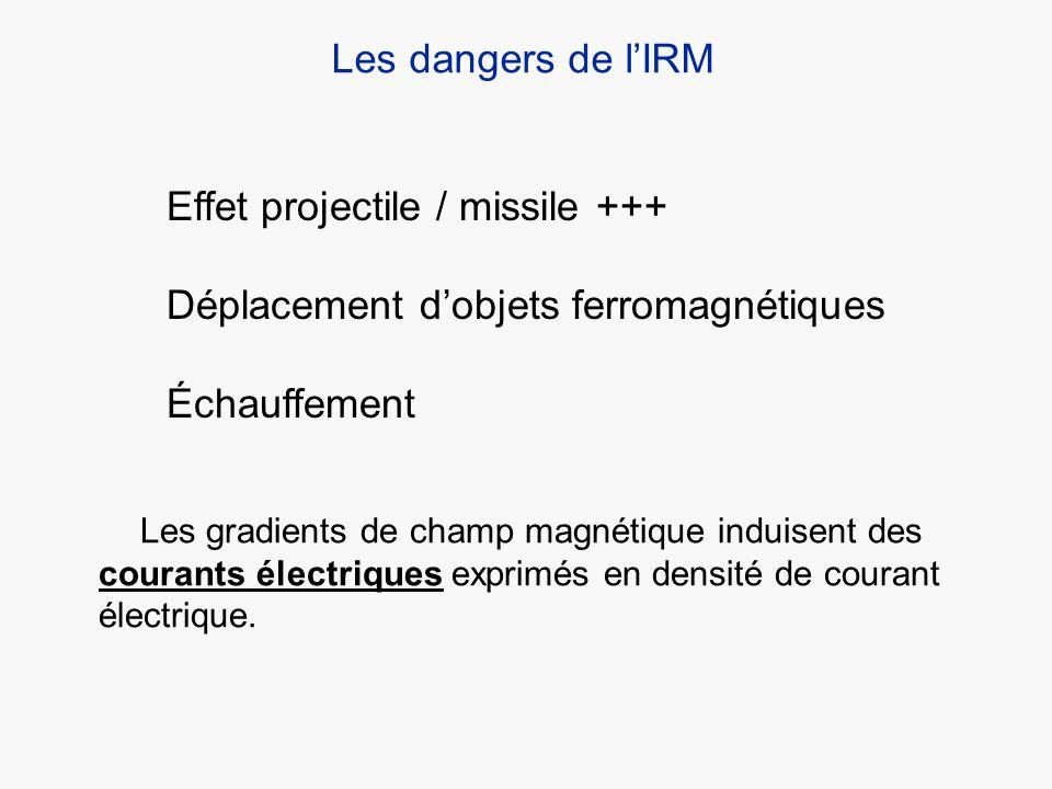 Effet projectile / missile +++ Déplacement d'objets ferromagnétiques