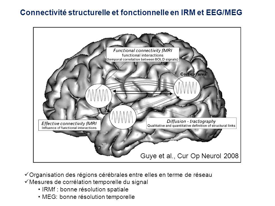 Connectivité structurelle et fonctionnelle en IRM et EEG/MEG