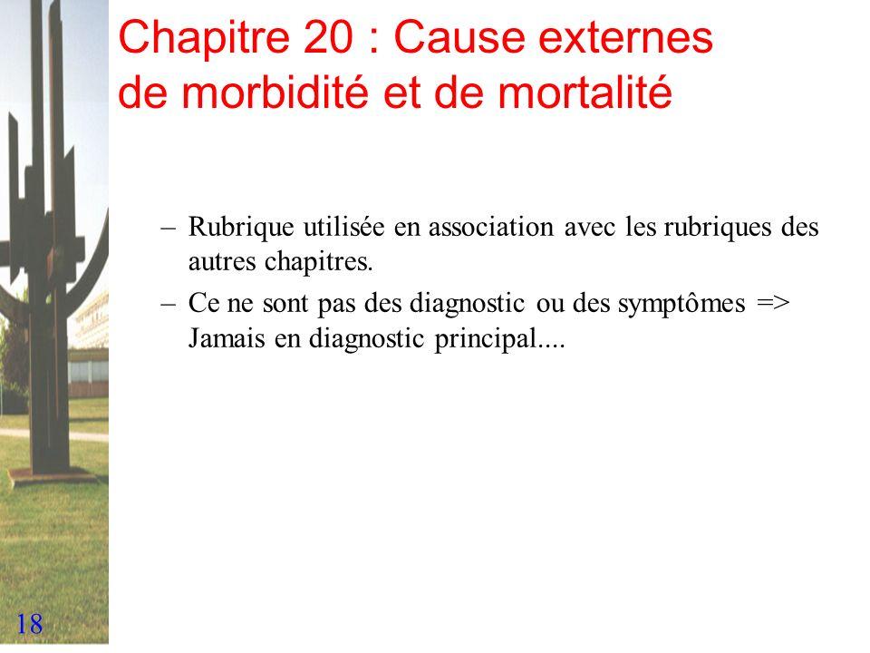 Chapitre 20 : Cause externes de morbidité et de mortalité