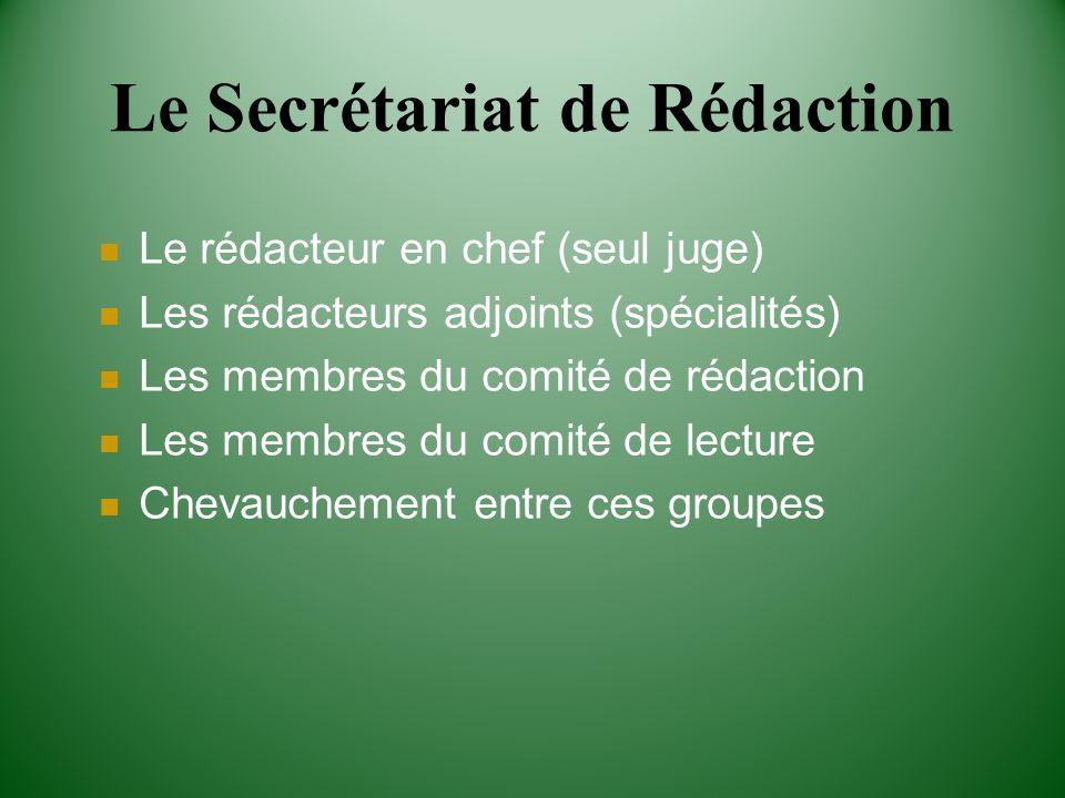 Le Secrétariat de Rédaction