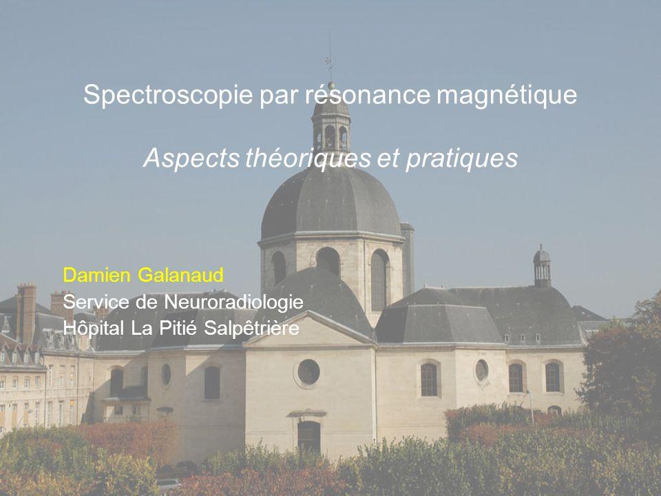 Spectroscopie par résonance magnétique Aspects théoriques et pratiques