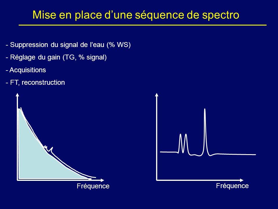 Mise en place d'une séquence de spectro