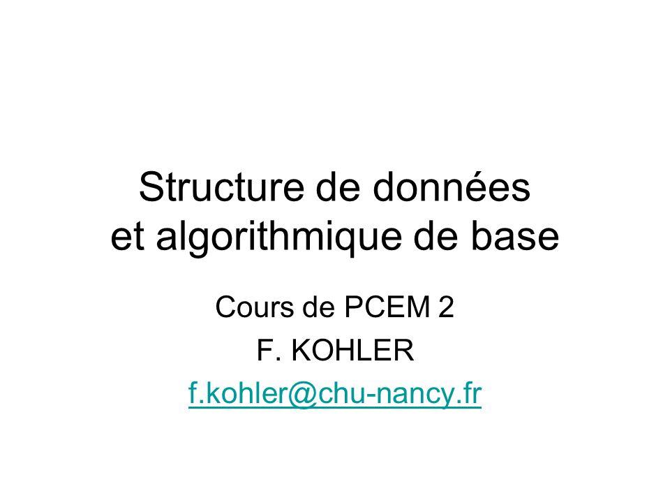Structure de données et algorithmique de base