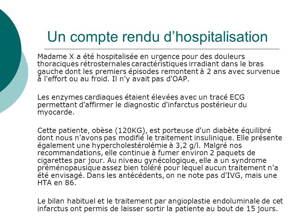Un compte rendu d'hospitalisation