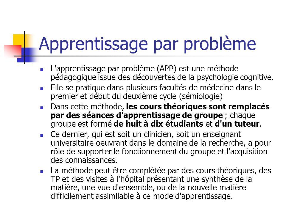 Apprentissage par problème