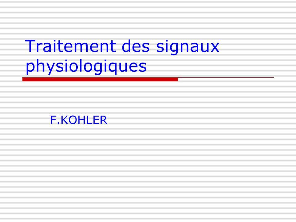 Traitement des signaux physiologiques