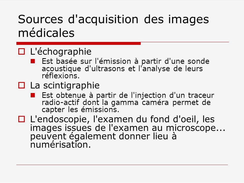 Sources d acquisition des images médicales