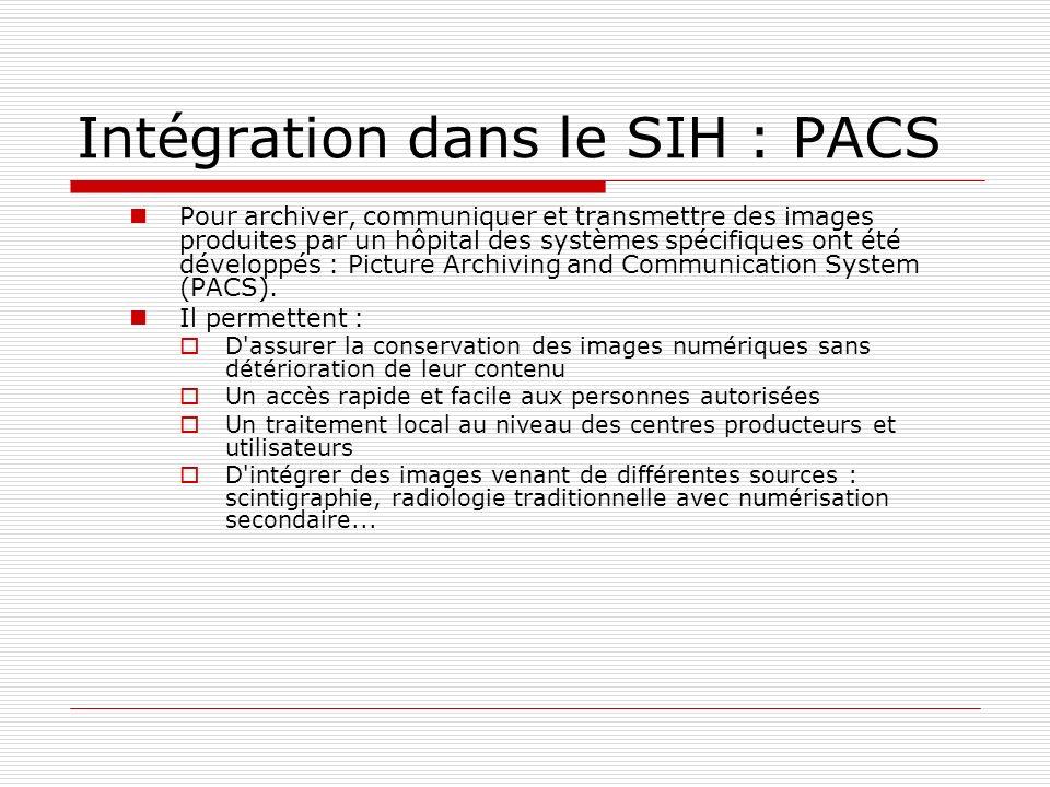 Intégration dans le SIH : PACS