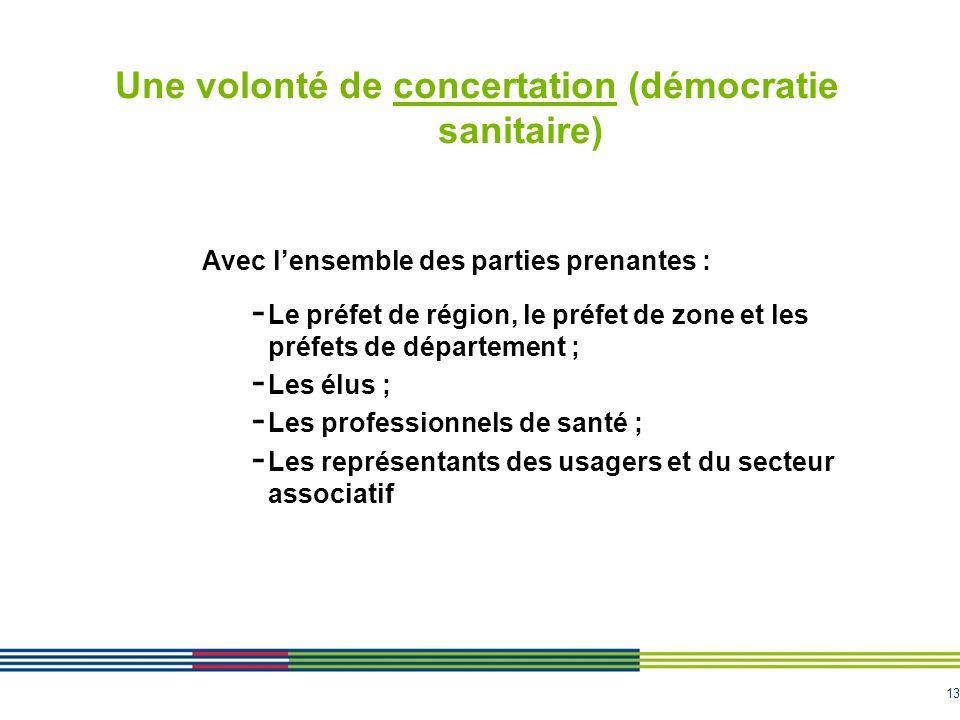 Une volonté de concertation (démocratie sanitaire)