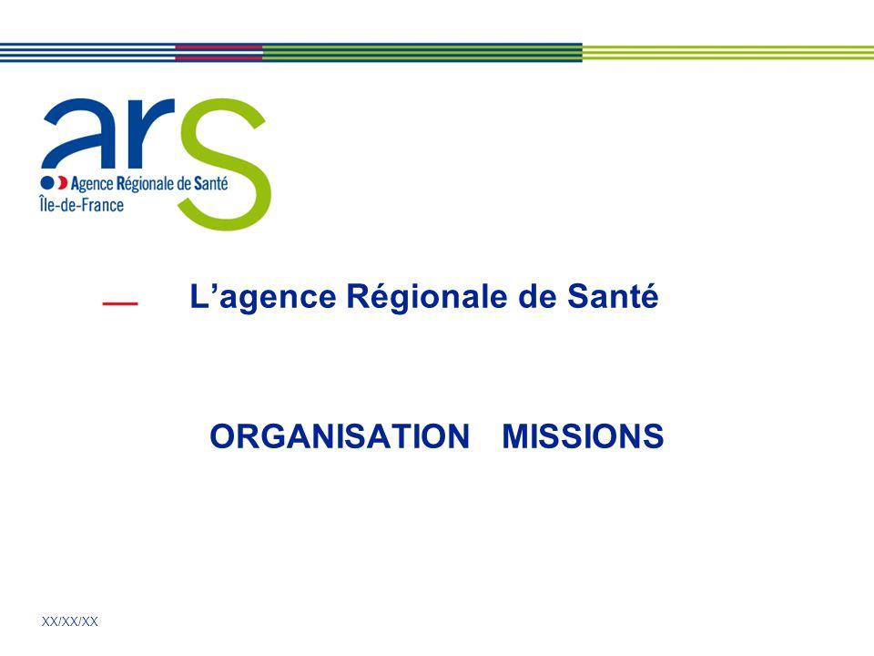 L'agence Régionale de Santé ORGANISATION MISSIONS